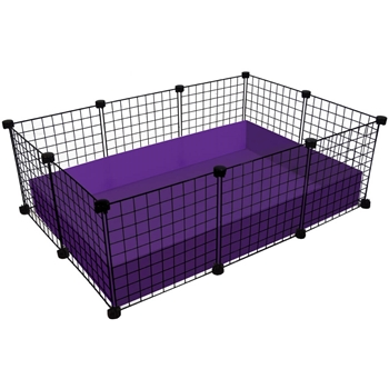 Small 2x3 grid c c guinea pig cage for Coroplast guinea pig cage for sale